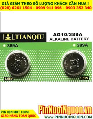 Pin AG10 LR1130 - Pin cúc áo 1.5v Alkaline Tianqiu AG10 LR1130 LR54