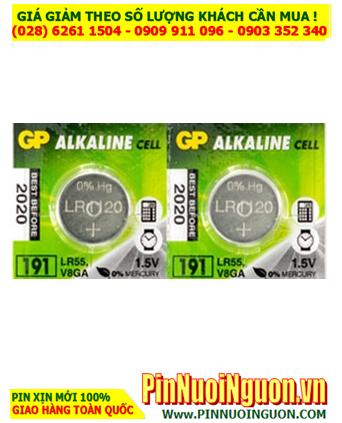 Pin GP LR1120, 191, LR55 _Pin cúc áo 1.5v Alkaline GP LR1120, 191, LR55