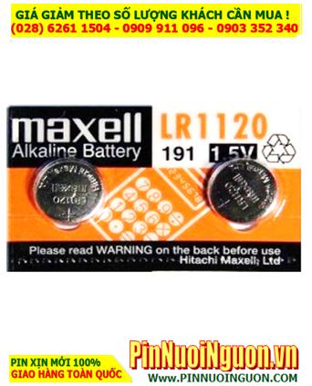 Maxell LR1120 LR55 AG8 _Pin cúc áo 1.5v Alkaline Maxell LR1120 LR55 AG8 | HẾT HÀNG