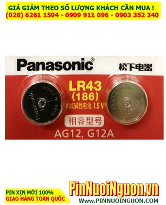 Pin LR43 AG12; Pin 1,5v Alkaline Panasonic LR43 AG12 chính hãng _viên