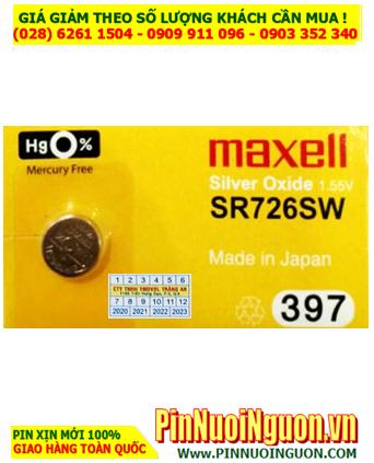 Maxell SR726SW _Pin 397; Pin đồng hồ đeo tay 1.55v Silver Oxide Maxell SR726SW _Pin 397 _Japan