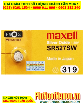 Maxell SR527SW _Pin 319; Pin đồng hồ đeo tay 1.55v Silver Oxide Maxell SR527SW 319 _Japan