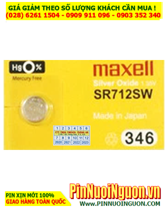 Maxell SR712SW _Pin 346; Pin đồng hồ Maxell SR712SW 346 silver oxide 1.55v_Made in Japan
