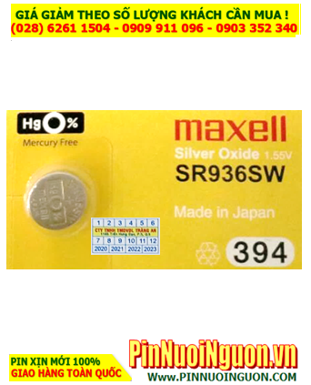 Maxell SR936SW _Pin 394; Pin đồng hồ Maxell SR936SW 394 silver oxide 1.55v _Made in Japan