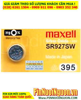 Maxell SR927SW _Pin 395; Pin đồng hồ Maxell SR927SW 395 Silver Oxide 1.55v _Made in Japan