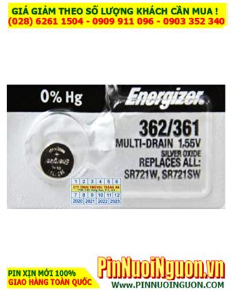 Energizer SR721SW _Pin 362; Pin đồng hồ 1.55v Silver Oxide  Energizer SR721SW