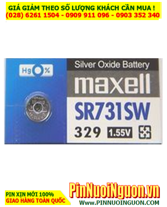 Maxell SR731SW _Pin 329; Pin đồng hồ 1.55v Silver Oxide Maxell SR731SW _Pin 329 _Made in Japan