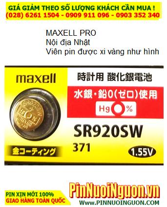 Pin SR920SW _Pin 371; Pin Maxell Pro SR920SW _Nội địa Nhật _xi mạ vàng Gold _Japan