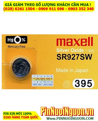 Maxell SR927SW _Pin 395; Pin đồng hồ 1.55v Silver Oxide Maxell SR927SW _Pin 395