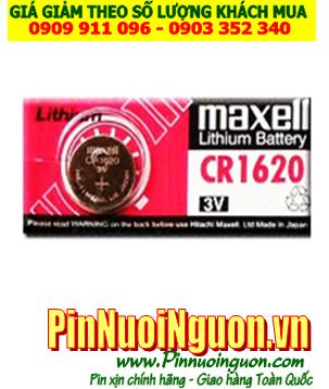 Pin Remote CR1620; Pin điều khiển Ôtô Maxell CR1620 lithium 3.0v chính hãng | CÒN HÀNG