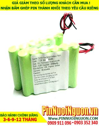 Pin hệ thống báo động NiMh 7.2v-AA2500mAh; Pin sạc NiMh 7.2v-AA2500mAh chuông cửa