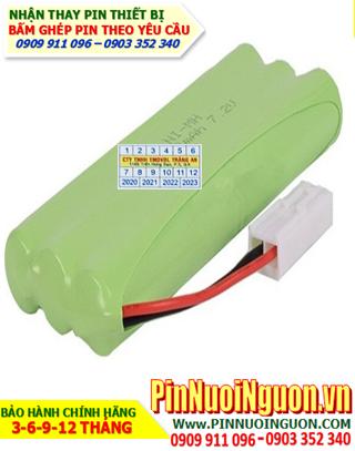 Pin xe đồ chơi Trẻ em 7.2v-AA700mAh; Pin sạc NiMh 7.2v-AA700mAh; Pin xe mô hình 7.2v-AA700mAh