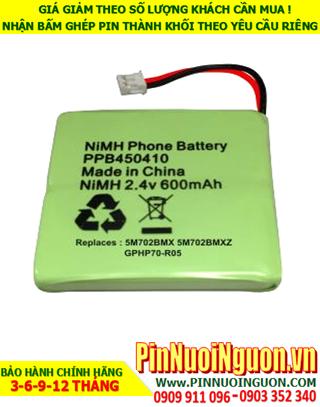 NiMh 2.4v 600mAh; Pin điện thoại bàn không dây Cordlessphone NiMh 2.4v AAA600mAh