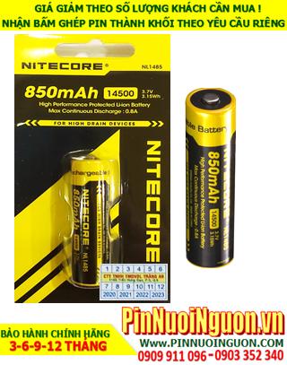 Nitecore NL1485 (14500); Pin sạc 3.7v AA850mAh (14500) Lithium-Ion Nitecore NL1485 (3.15Wh)