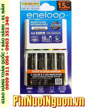Panasonic BQ-CC55E _Bộ sạc 1.5giờ Panasonic Eneloop BQ-CC55E kèm 4 pin Eneloop Pro AA2550mAh 1.2v