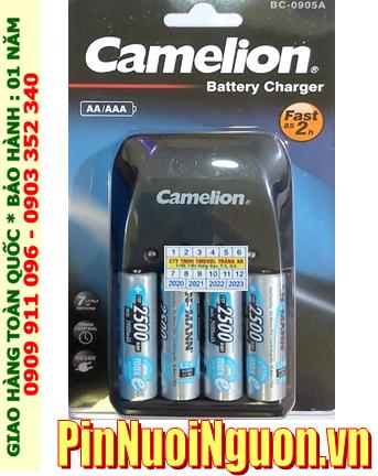 Camelion BC-0905A; Bộ sạc pin AA Camelion BC-0905A _kèm 4 pin sạc Ansman AA2500mAh 1.2v