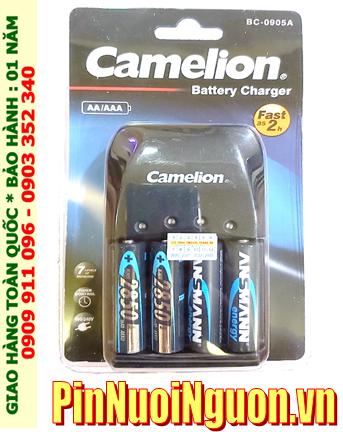 Camelion BC-0905A; Bộ sạc pin AA Camelion BC-0905A _kèm 4 pin sạc Ansman AA2850mAh 1.2v