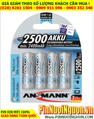 Ansman AA2500mAh; Pin sạc AA 2500mAh 1.2v Ansmann Mignon HR6  AA 2500mAh (5035442)
