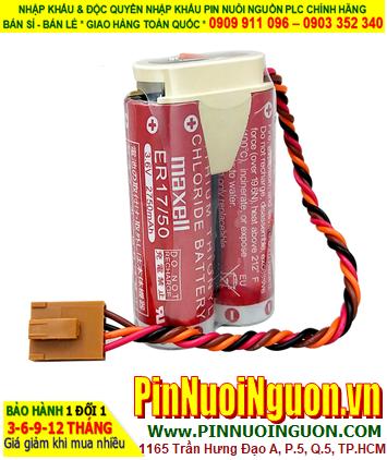 Maxell 2ER17/50; Pin nuôi nguồn PLC Maxell 2ER17/50 lithium 3.6v 5500mAh _Made in Japan