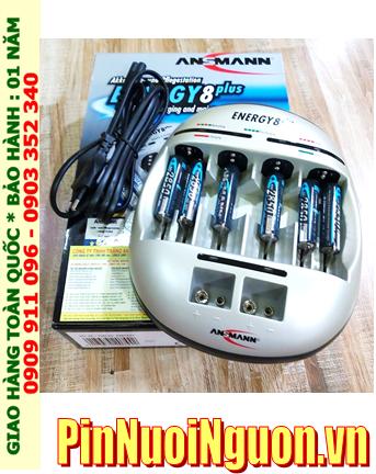 Ansman Energy 8Plus _Bộ sạc đa năng Energy 8Plus kèm 06 Pin sạc Ansman Mignon AA2850mAh 1.2v