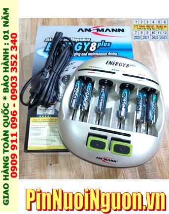 Ansman Energy 8Plus _Bộ sạc đa năng Energy 8Plus kèm 08 Pin (06 Ansman 2850mAh & 2 Ansman 9v200mAh)
