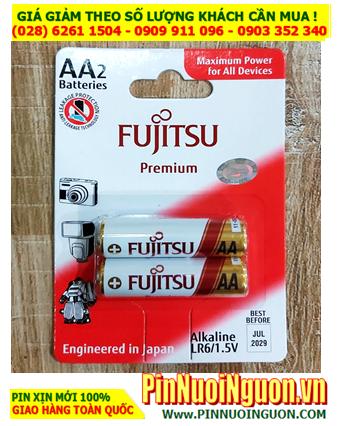 Fujitsu LR6(2B)FP; Pin AA 1.5v Fujitsu Premium Alkaline LR6(2B)FP _Made in Indonesia _Vỉ 2viên