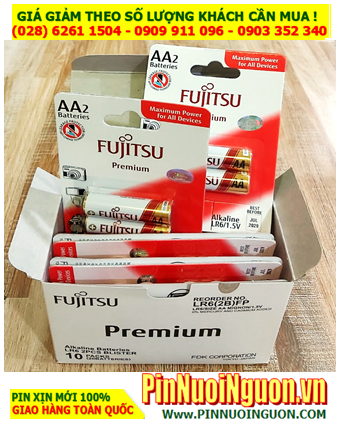 COMBO 1HỘP 20vỉ Pin Fujitsu Premium Alkaline LR6(2B)FP (Made in Indonesia) _Giá chỉ 349.000đ/HỘP 20vỉ