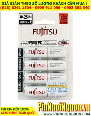 Pin Fujitsu HR-3UTC(4B); Pin sạc AA 1.2v Fujitsu HR-3UTC(4B) AA1900mAh _Made in Japan _Vỉ 4viên