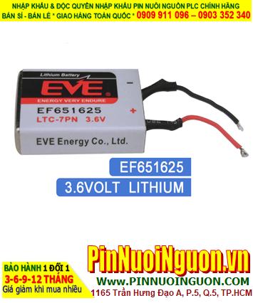 EF651625 (LTC-7PN) _Pin nuôi nguồn PLC EVE EF651625 (LTC-7PN) lithium 3.6v   TẠM HẾT HÀNG