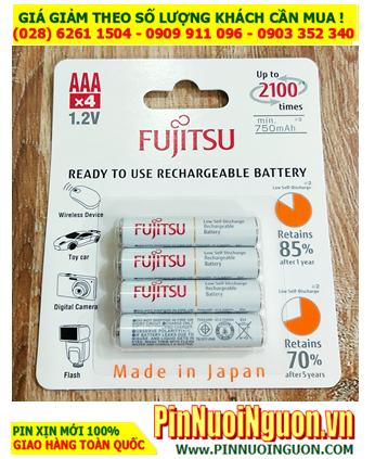 Fujitsu HR-4UTCEX(4B); Pin sạc AAA 800mAh 1.2v Fujitsu HR-4UTCEX(4B) Type 800mAh (Min 750mAh) Japan _Vỉ 4viên