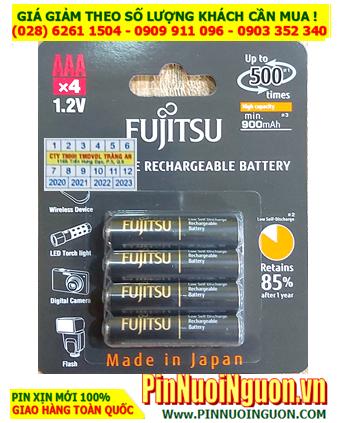 Pin Fujitsu HR-4UTHCEX(4B) _Pin sạc 1.2v AAA900mAh Fujitsu HR-4UTHCEX(4B) _Made in Japan _Vỉ 4viên
