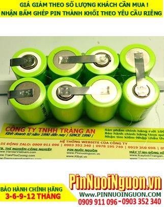 Pin sạc 9.6v 2/3A 1600mAh; Pin sạc NiMh NiCd 9.6v 2/3A 1600mAh; Pin sạc công nghiệp 9.6v 2/3A 1600mAh