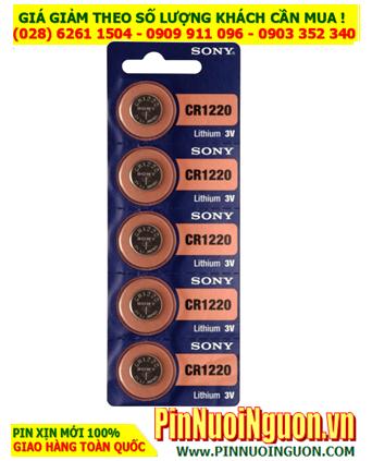 COMBO 1vỉ 5viên Pin Sony CR1220 lithium 3v _Giá chỉ 98.000vnd/ Vỉ 5viên