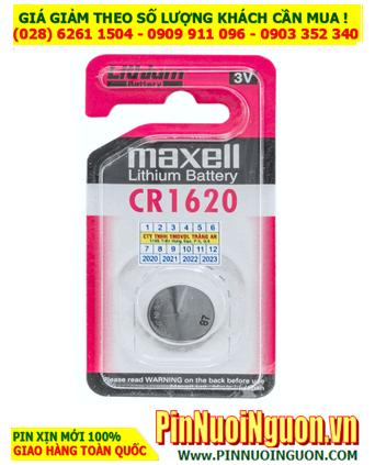 Pin Maxell CR1620; Pin 3v lithium Maxell CR1620 _Cells in Japan _Vỉ 1viên