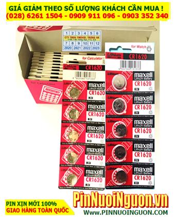 COMBO 1 HỘP 20vỉ (100viên) Pin Maxell CR1620 lithium 3.0v _Giá chỉ 878.000/Hộp 100viên