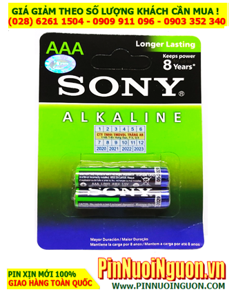 Pin Sony LR03, AM4; Pin AAA 1.5v Alkaline Sony LR03, AM4 Made in INdonesia - Vỉ 2viên