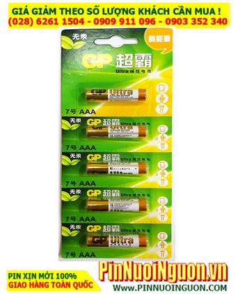 Pin AAA GP 24A-LI5; Pin AAA 1.5v Alkaline GP 24A-LI5 Made in China - Vỉ 5viên