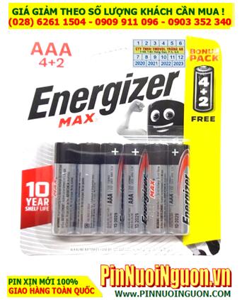 Energizer E92-BP6; Pin AA 1.5v Alkaline Energizer E91 BP6 Made in Singapore |Vỉ 6viên
