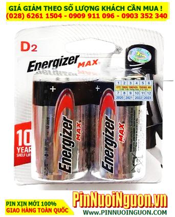 Pin D Energizer E95 BP2; Pin E95 BP2; Pin đại D 1.5v Alkaline Energizer E95 BP2 Made in USA -Vỉ 2viên