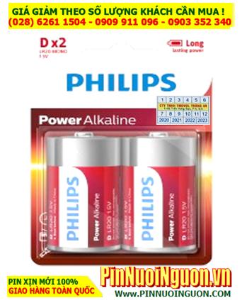 Pin Philips LR20P2B/97; Pin LR20P2B/97; Pin đại D 1.5v Alkaline Philips LR20P2B/97 - Vỉ 2viên  HẾT HÀNG