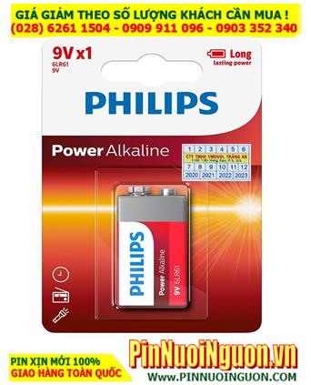 Pin Philips 6LR61P1B/97; Pin 9v Alkaline Philips 6LR61P1B/97 _ Vỉ 1viên