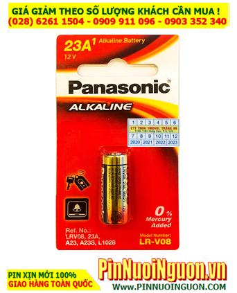 Pin 12v LR-V08 _Pin A23; Pin Remote điều khiển Panasonic LR-V08 A23 _Made in Thailand _Vỉ 1viên