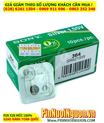 Pin SR621SW _Pin 364; Pin đồng hồ Sony SR621SW-364 Silver Oxide 1.55v _Made in Japan _Vỉ 1viên