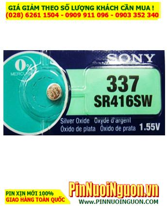 Pin SR416SW _Pin 337; Pin đồng hồ Sony SR416SW 337 Silver Oxide 1.55v _Made in Indonesia _1viên