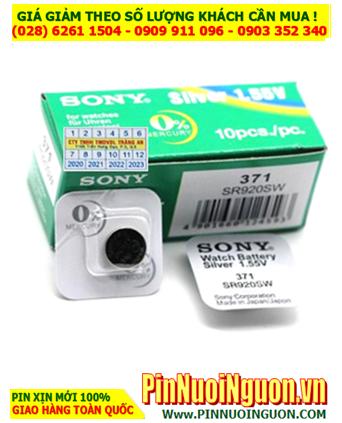 Pin SR920SW _Pin 371; Pin đồng hồ Sony SR920SW 371 Silver Oxide 1.55v _Made in Japan _Vỉ 1viên