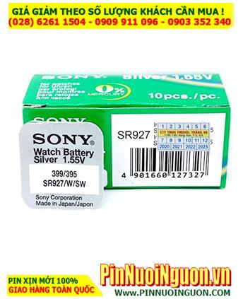 Pin SR927SW _Pin 395; Pin đồng hồ Sony SR927SW-395/399 Silver Oxide 1.55v _Made in Japan _Vỉ 1viên