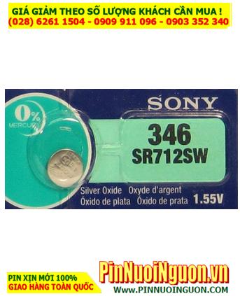 Pin SR712SW _Pin 346; Pin đồng hồ Sony SR712SW 346 Silver Oxide 1.55v _Made in Indonesia _1viên