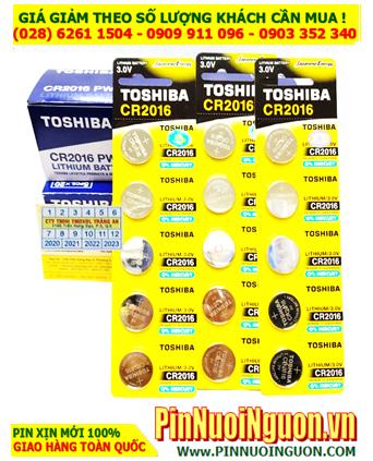 COMBO 1HỘP (100viên) Pin Toshiba CR2016 lithium 3.0v chính hãng _Giá chỉ 959.000đ/HỘP