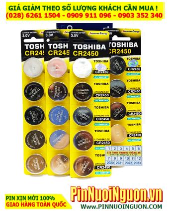 COMBO  1 HỘP 20vỉ 5viên (100viên) Pin Toshiba CR2450 lithium 3.0v _Giá chỉ 1.679.000đ/HỘP 100viên