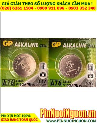 Pin A76 LR44 357; Pin cúc áo 1.5v Alkaline GP A76 LR44 357 chính hãng